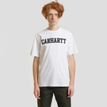 Мужская футболка Carhartt WIP College Graphic Print White/Black фото- 1