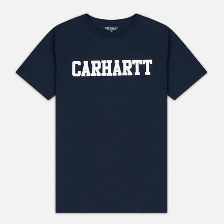 Мужская футболка Carhartt WIP College Navy/White
