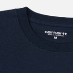 Мужская футболка Carhartt WIP College Navy/White фото- 1