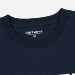 Мужская футболка Carhartt WIP College Navy/White фото- 2