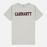 Мужская футболка Carhartt WIP College Snow Heather/Chianti фото- 0