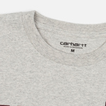 Мужская футболка Carhartt WIP College Snow Heather/Chianti фото- 1