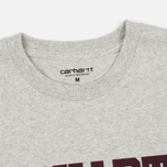 Мужская футболка Carhartt WIP College Snow Heather/Chianti фото- 2