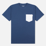 Мужская футболка Carhartt WIP Contrast Pocket Blue/Ash Heather фото- 0