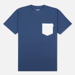 Carhartt WIP Contrast Pocket Men's T-shirt Blue/Ash Heather photo- 0