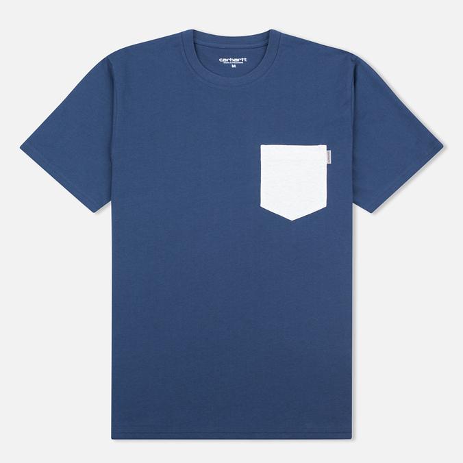 Carhartt WIP Contrast Pocket Men's T-shirt Blue/Ash Heather