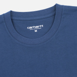 Мужская футболка Carhartt WIP Contrast Pocket Blue/Ash Heather фото- 1