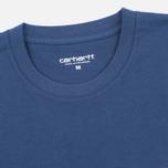 Carhartt WIP Contrast Pocket Men's T-shirt Blue/Ash Heather photo- 1
