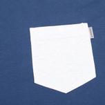 Carhartt WIP Contrast Pocket Men's T-shirt Blue/Ash Heather photo- 2