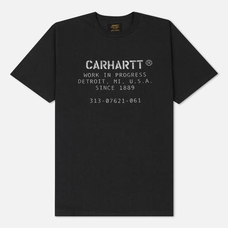 Мужская футболка Carhartt WIP Custer ML Font Soot/White