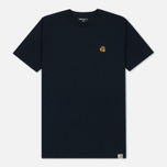 Мужская футболка Carhartt WIP Duck C Navy фото- 0