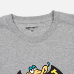 Мужская футболка Carhartt WIP Duckman Grey Heather фото- 2
