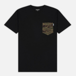 Мужская футболка Carhartt WIP Lester Pocket Black/Camo Tiger Laurel фото- 0