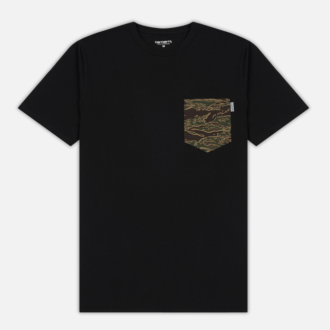 Мужская футболка Carhartt WIP Lester Pocket Black/Camo Tiger Laurel