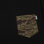 Мужская футболка Carhartt WIP Lester Pocket Black/Camo Tiger Laurel фото- 2