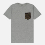 Мужская футболка Carhartt WIP Lester Pocket Grey Heather/Camo Tiger Laurel фото- 0