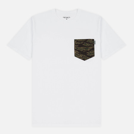 Мужская футболка Carhartt WIP Lester Pocket White/Camo Tiger Laurel