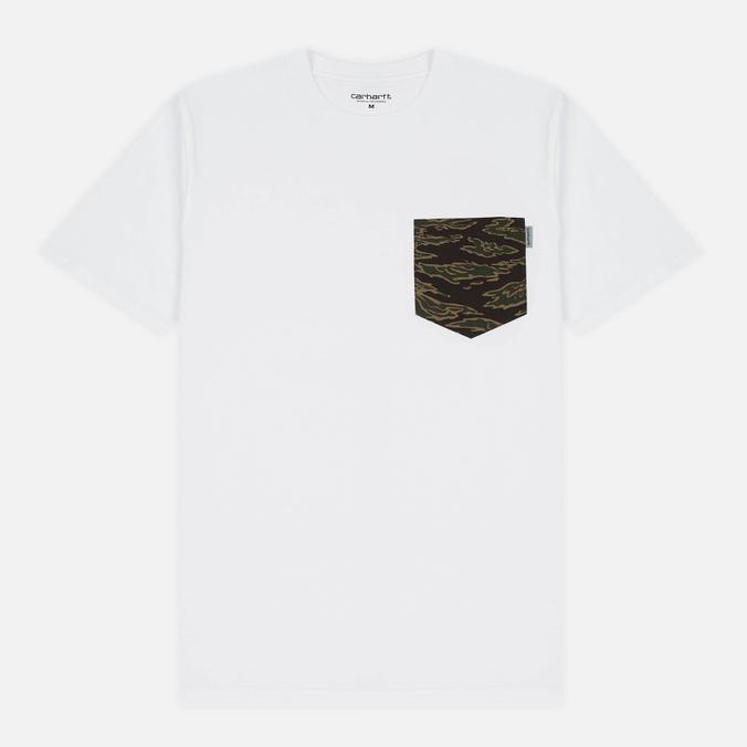Мужская футболка Carhartt WIP Lester Pocket White/Camo Tiger Laurel