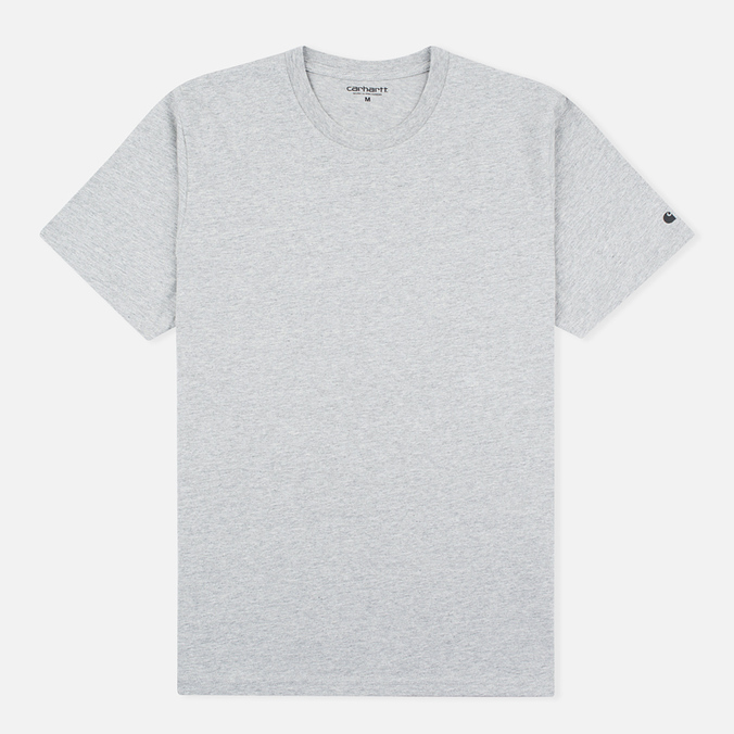 Мужская футболка Carhartt WIP S/S Base Grey Heather/Black