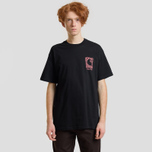 Мужская футболка Carhartt WIP S/S Body & Paint Black/Red фото- 2