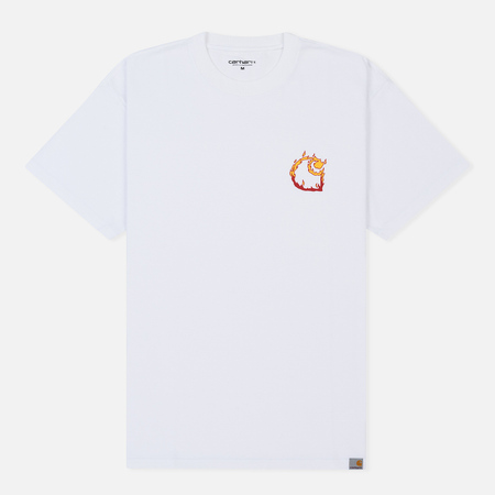 Мужская футболка Carhartt WIP S/S Burning C White