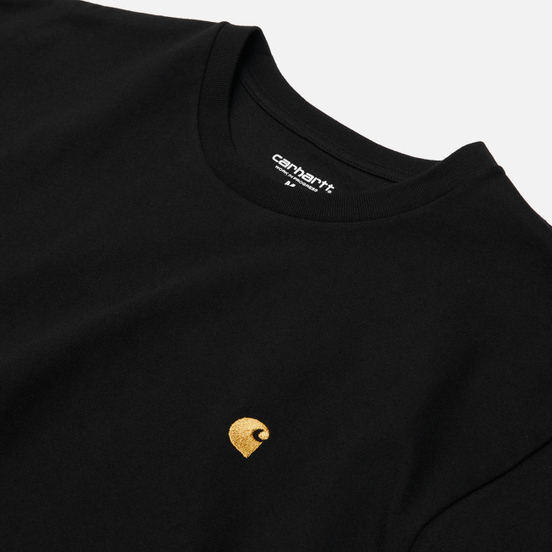 Мужская футболка Carhartt WIP S/S Chase Black/Gold