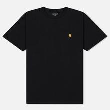 Мужская футболка Carhartt WIP S/S Chase Black/Gold фото- 0