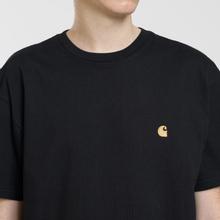 Мужская футболка Carhartt WIP S/S Chase Black/Gold фото- 2