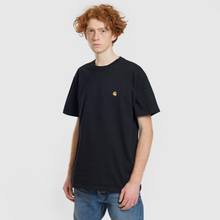 Мужская футболка Carhartt WIP S/S Chase Black/Gold фото- 1