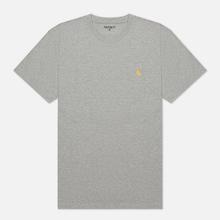 Мужская футболка Carhartt WIP S/S Chase Grey Heather/Gold фото- 0