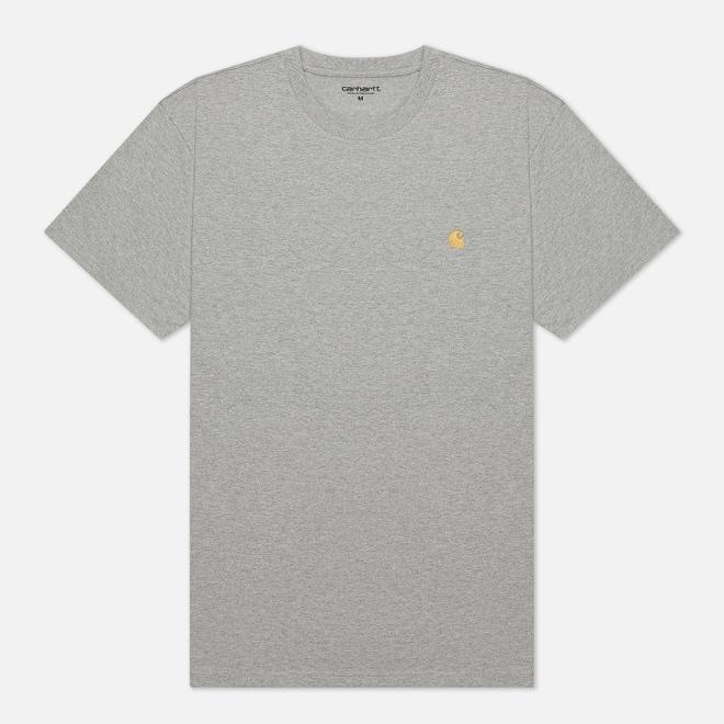 Мужская футболка Carhartt WIP S/S Chase Grey Heather/Gold