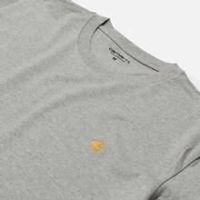 Мужская футболка Carhartt WIP S/S Chase Grey Heather/Gold фото- 1