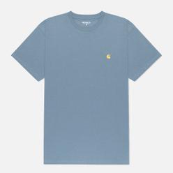 Мужская футболка Carhartt WIP S/S Chase Mossa/Gold