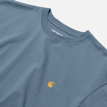 Мужская футболка Carhartt WIP S/S Chase Mossa/Gold фото- 1