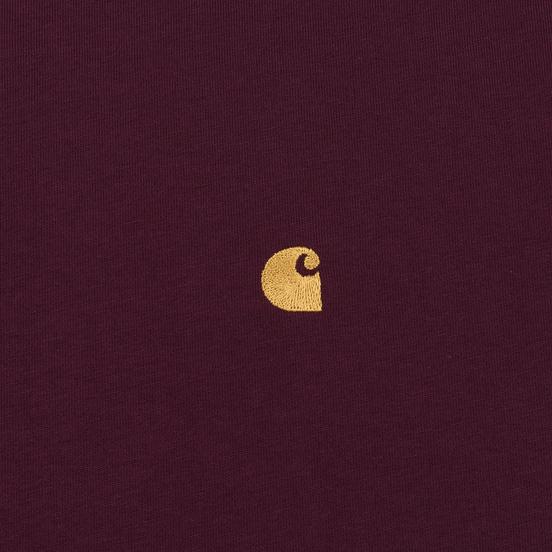 Мужская футболка Carhartt WIP S/S Chase Shiraz/Gold