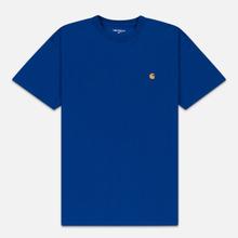 Мужская футболка Carhartt WIP S/S Chase Submarine/Gold фото- 0