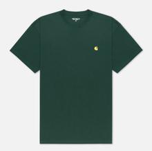 Мужская футболка Carhartt WIP S/S Chase Treehouse/Gold фото- 0