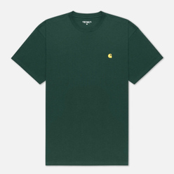 Мужская футболка Carhartt WIP S/S Chase Treehouse/Gold