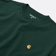 Мужская футболка Carhartt WIP S/S Chase Treehouse/Gold фото- 1