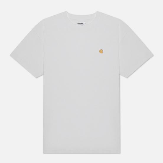 Мужская футболка Carhartt WIP S/S Chase White/Gold