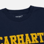 Мужская футболка Carhartt WIP S/S College Blue/Yellow фото- 1