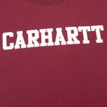 Carhartt WIP S/S College Men's T-shirt Cordovan/White photo- 2