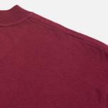 Carhartt WIP S/S College Men's T-shirt Cordovan/White photo- 3