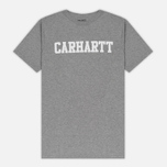Мужская футболка Carhartt WIP S/S College Grey Heather/White фото- 0