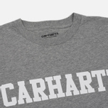 Мужская футболка Carhartt WIP S/S College Grey Heather/White фото- 1