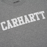 Мужская футболка Carhartt WIP S/S College Grey Heather/White фото- 2