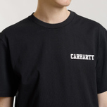 Мужская футболка Carhartt WIP S/S College Script Black/White фото- 3