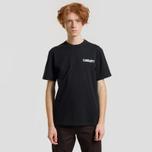 Мужская футболка Carhartt WIP S/S College Script Black/White фото- 1