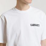 Мужская футболка Carhartt WIP S/S College Script White/Black фото- 3