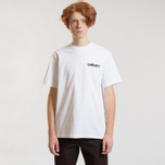 Мужская футболка Carhartt WIP S/S College Script White/Black фото- 1